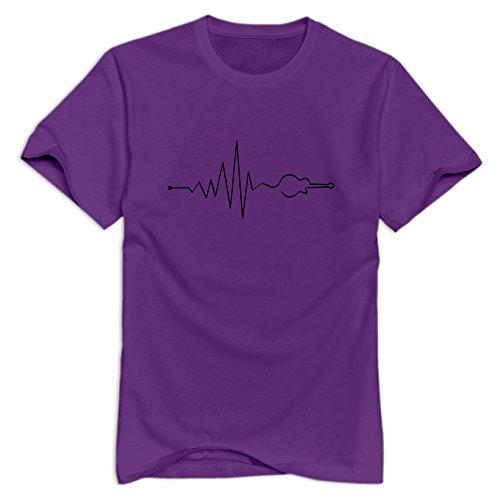 Xuruw Men Musik Vibe Guitar Swag T-Shirt Purple Size L ()
