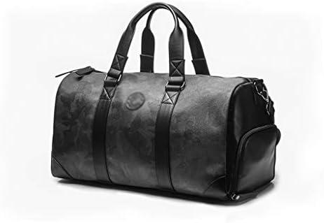 使用ブラック、グレー、グリーンの多機能ポータブルフィットネスゴルフの服荷物バッグメンズ大容量トラベルバッグ複数の方法 HMMSP (Color : Gray, Size : 42×20×23cm)