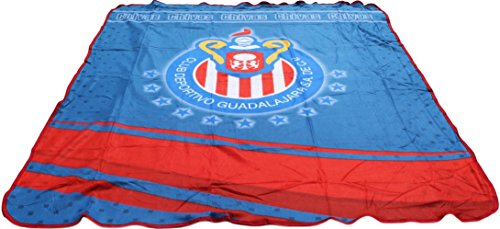 Chivas Soccer Team Blanket Made in Mexico 7' H x 6' W by Trade MX