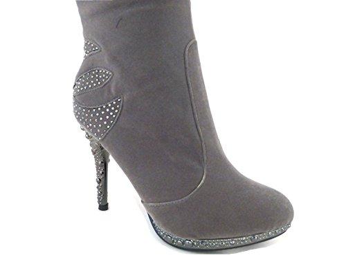 Femme 3779 Grey Sko's Bottes Pour EwpqxTS0xn