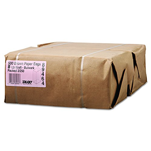 Duro 30908 General Gx8500#8 Paper Grocery Kraft, Extra-Heavy-Duty, 57 lb, 500 Piece - General Grocery Paper Bags