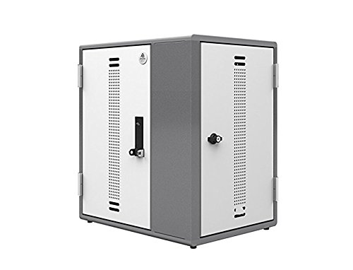Ergotron YESMLCGMPW Anthro YES - Cabinet unit (charge only) for 12 netbooks/ tablets - powder-coated steel - metallic gray, polar white - screen size: up to 14 inch - wall-mountable by Ergotron