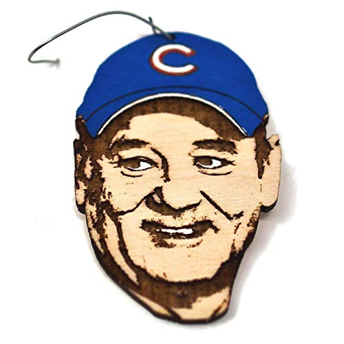 (Cubs Fan Christmas Ornament   World Series Commemorative Rear View Mirror Hanging   Hand-Painted Unique Holiday Gift)