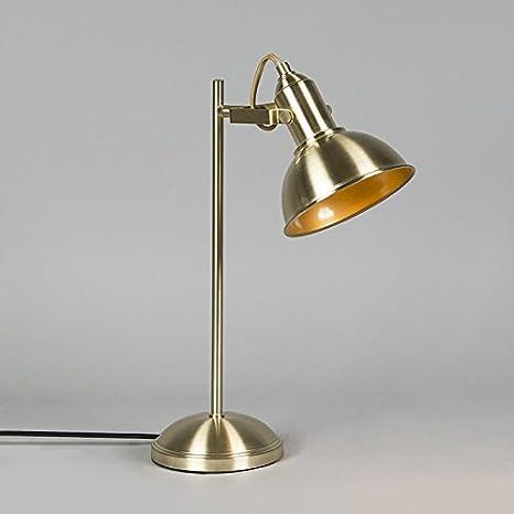 Schreibtischleuchte E14 gold messing Metall Vintage