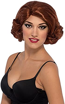 1920s Accessories | Great Gatsby Accessories Guide Secret Wishes Womens Avengers 2 Age Of Ultron Deluxe Black Widow Wig $10.00 AT vintagedancer.com