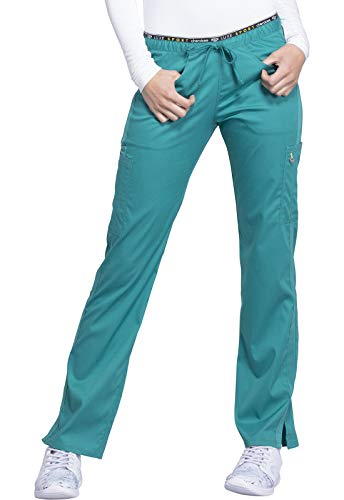 Cherokee Luxe Sport Women's Mid Rise Straight Leg Pull-On Scrub Pant