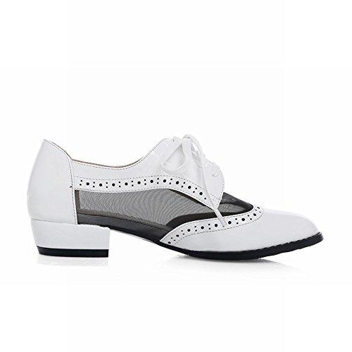 Mostrar Zapatos Shine Mujeres Fashion Mesh Oxfords Blanco