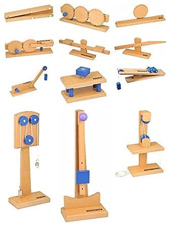 Amazon.com: Eisco Labs Simple Machines, Complete Set of 12 ...