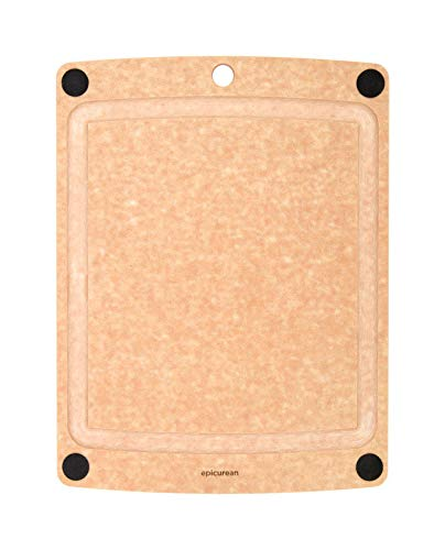 Epicurean All-In-One Cutting Board with Non-Slip Feet and Juice Groove, 14.5'' by 11.25'', Natural by Epicurean