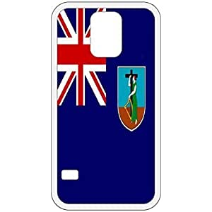 Montserrat Flag White Samsung Galaxy S5 Cell Phone Case - Cover