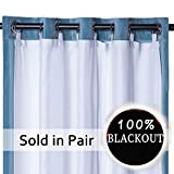 Rose Home Fashion RHF Thermal Insulated Blackout Curtain Liner Panel-Ring Included- Curtain Liner