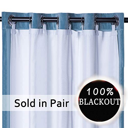(Rose Home Fashion Thermal Insulated Blackout Curtain Liner Panel-Ring Included- Curtain Liner 100% Darkening,Blackout Liner for 84 Inch Curtains:50