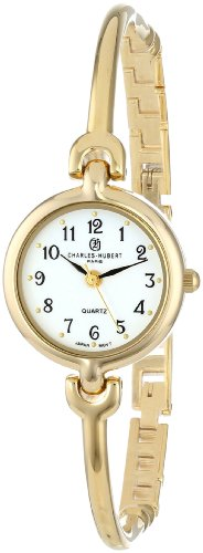 Charles-Hubert, Paris Women's 6829-G Classic Collection Gold-Plated White Dial - Watch Gold White Plated Wrist
