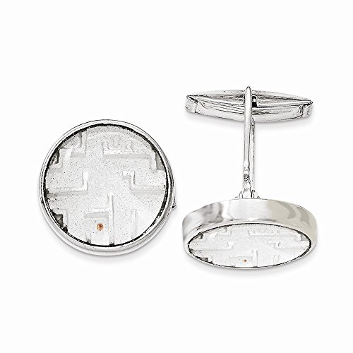 Sterling Silver Maze with Copper Bead Cuff Links ()