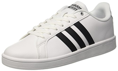 Leather Blk Wht Mens Sneakers - 8