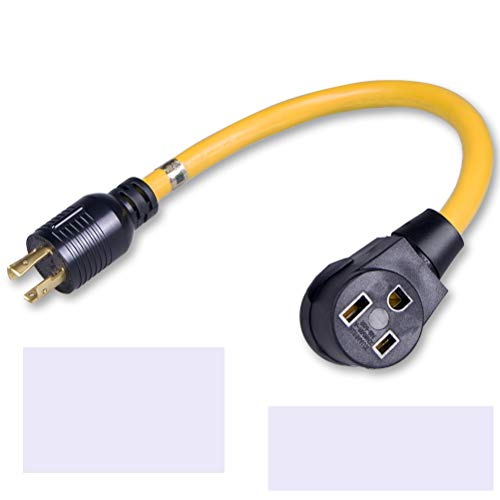 yodotek 1.5FT NEMA L14-30P to 6-50R,Generator Power Cord to Welder Adapter, 4 Prong to 3 Wire 125/250v UL Approvaled