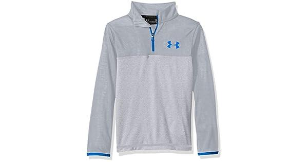 Under Armour Youth Boys/' Threadborne 1//4 Zip Shirt 1299370 Steel//Ultra Blue