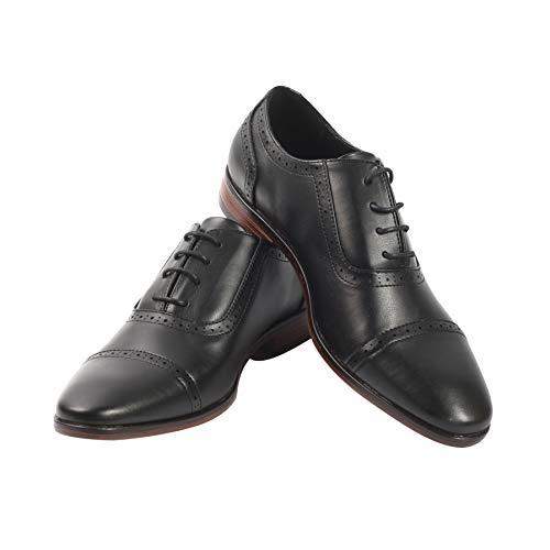 Mens Oxford Wingtip Lace Dress Shoes (11.5, Black)