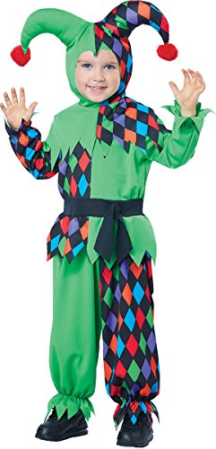 Court Jester Costumes (California Costumes Junior Jester Toddler Costume, Size 3-4)