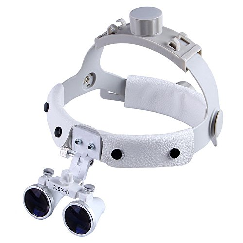 SoHome Headband Surgical Medical Binocular Loupes 3.5X420mm Dental Lab Equipment DY-108 White by SoHome (Image #9)