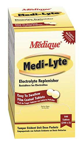 Medique Products 03013 Electrolyte Tablets w/ Potassium for Cramps, Heat Fatigue, Exhaustion Medi-Lyte, 500 Tablets (250…