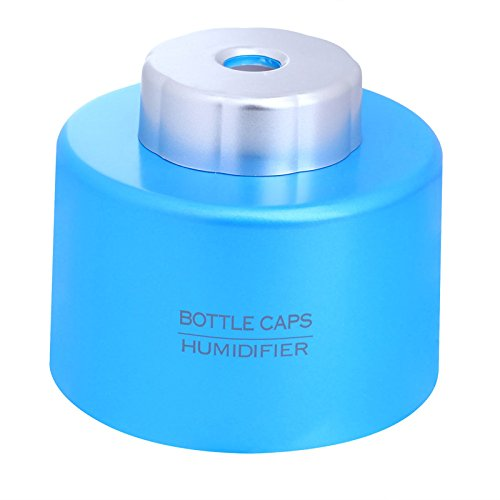 econoLED New Portable USB Mini Water Bottle Caps Humidifier Air Diffuser Aroma Mist Maker Blue