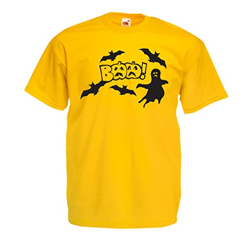 T Shirts for Men BAAA! - Funny Halloween Costume Ideas, Cool Party Outfits (Large Yellow Multi Color)