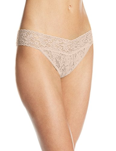 (Hanky Panky Women's Signature Lace Original Rise Thong Panty, Chai, One)