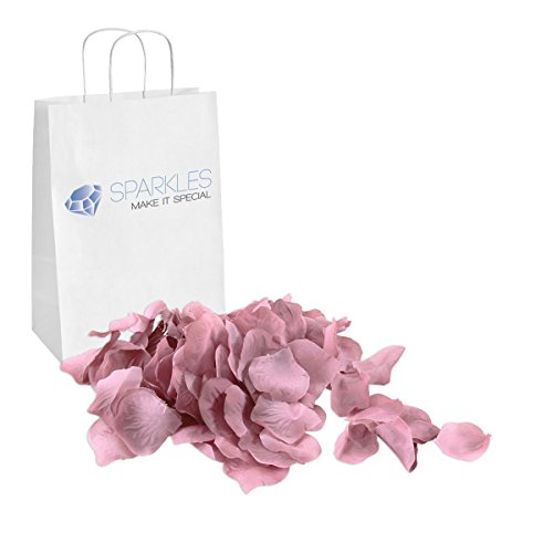 Sparkles Make It Special 900-pcs Rose Petals Faux Silk Flower Mauve