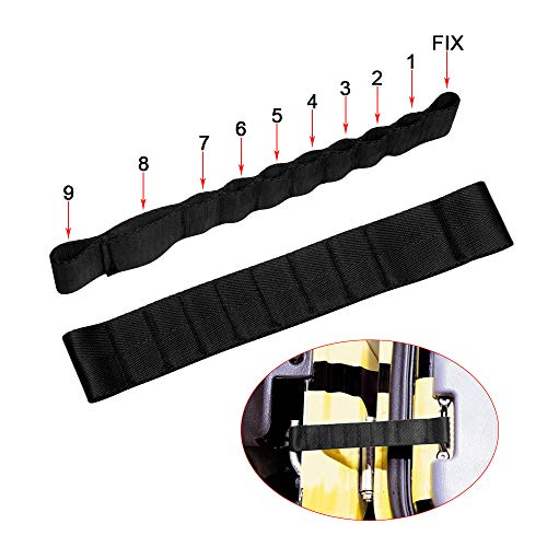(VOFONO Dual Heavy Duty Strong Adjustable Door Limiting Check Strap Perfect for Jeep Wrangler Black Pack of 2)