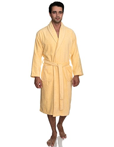 (TowelSelections Men's Robe, Turkish Cotton Terry Shawl Bathrobe Large/X-Large Sunlight)