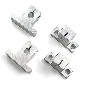 Mergorun Aluminum SK8 Size Inside Diameter 8mm Linear Rod Rail Shaft Support Guide Motion Pack of 4 by Merogrun