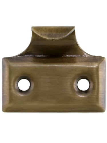 (Stamped Brass Hook Style Sash Lift in Antique-by-Hand)