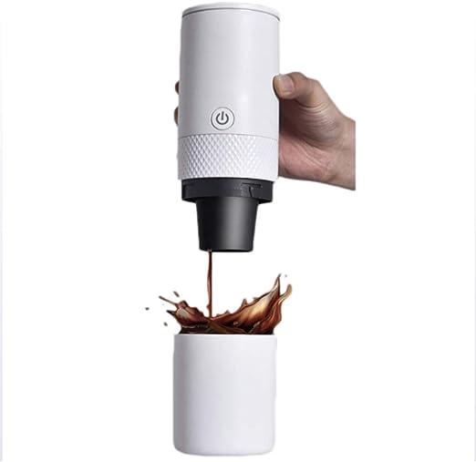 QUANOVO Eléctrico Cafetera Máquina Cafetera Cafetera Portátil Completamente Automático Cafetera Espresso Mini Moler Frijoles con Molinillo De Café Oficina Especias Nueces (Blanco): Amazon.es: Hogar