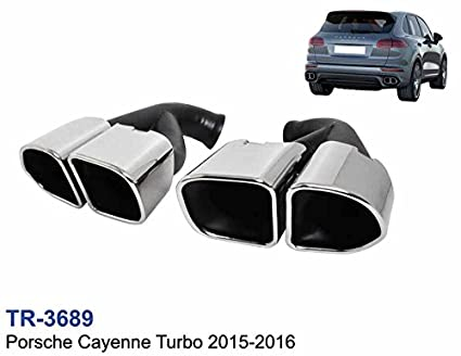 Kit de colas dobles de escape look Cayenne Turbo 958 2015-2015 embellecedores
