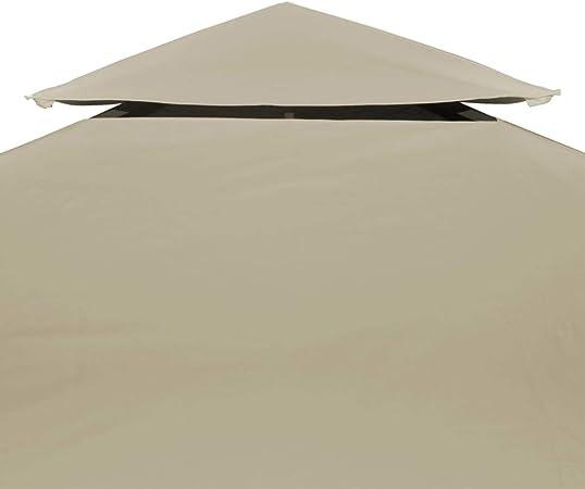 vidaXL Toldo de Cenador de Repuesto Tela Impermeable Beige 3x4 m ...