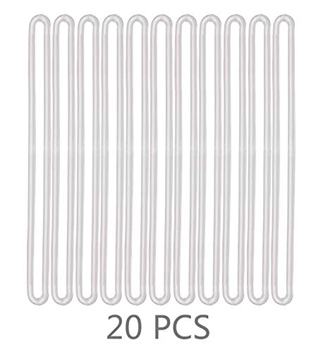 - Mini Skater 7 Inch Transparent Plastic Tag Loop Clear Luggage Bag Loop Straps,20Pcs