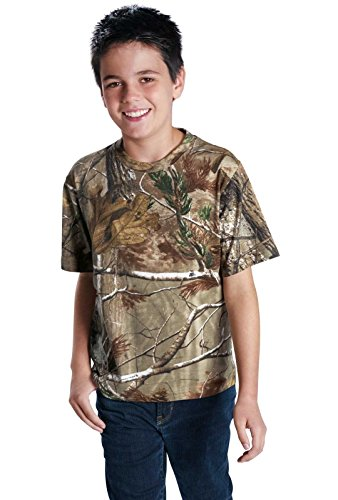 Code Five Youth 100% Ringspun Cotton Licensed Realtree Camouflage Crew Neck Short Sleeve Tee