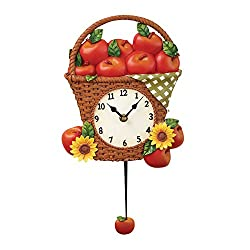 Country Apple Picnic Wall Clock