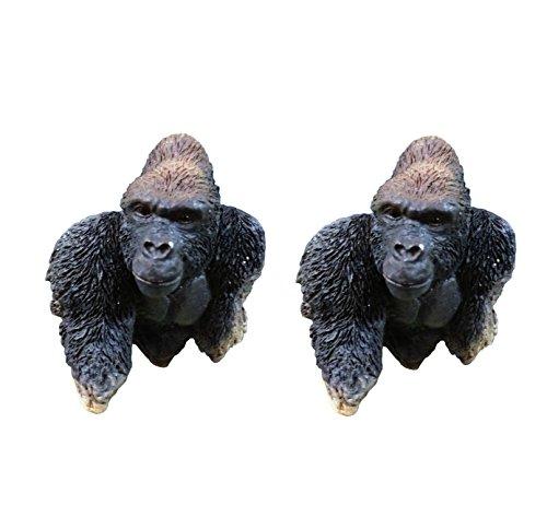 2 Piece Best Gorilla Safari Jungle Animal Fridge Magnet Set Unique Cool Cute Fun Top Popular Clever Valentines Day Basket Gift Idea Married Couple Parent Kid Children Cousin Family Friend