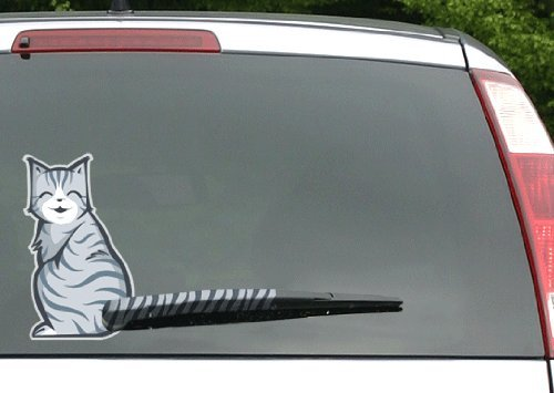 Amazoncom Moving Tail Kitty Car Decal Rear Window And Wiper - Window decals for trucks rear