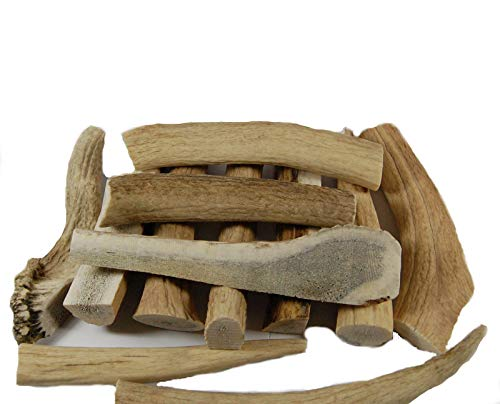 Big Dog Antler Chews - Grade B Deer and Elk Antler Pieces - Dog Chews - Antlers by the Pound, One Pound - Six Inches or Longer - Natural Healthy Long-Lasting Treat - Happy Dog Guarantee!