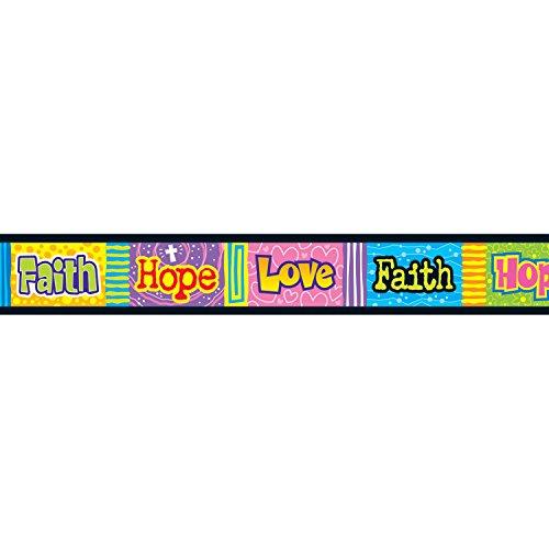 TREND enterprises, Inc. T-85705BN Faith, Hope, Love Bolder Borders, 35.75' Per Pack, 6 Packs