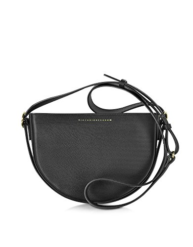 VICTORIA BECKHAM WOMEN'S VBA111GRAINED BLACK LEATHER SHOULDER BAG