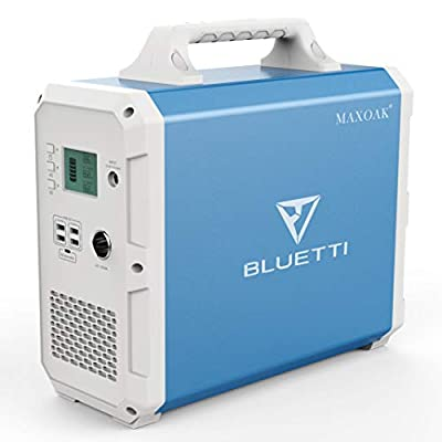 MAXOAK Portable Power Station BLUETTI EB150 1500Wh AC120V/1000W Camping Solar Generator Lithium Emergency Battery Backup with 2 AC outlet Pure Sinewave,DC12V,USB-C for Outdoor Road Trip Travel Fishing
