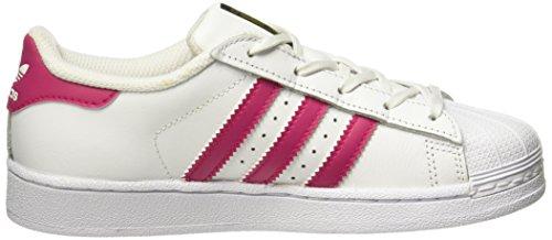 adidas Unisex-Kinder Superstar Foundation Sneakers Elfenbein (Footwear White/bold Pink/footwear White)