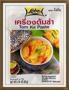 Lobo Brand Thai Tom Ka Paste - 1.76oz Envelope (Pack of 3)