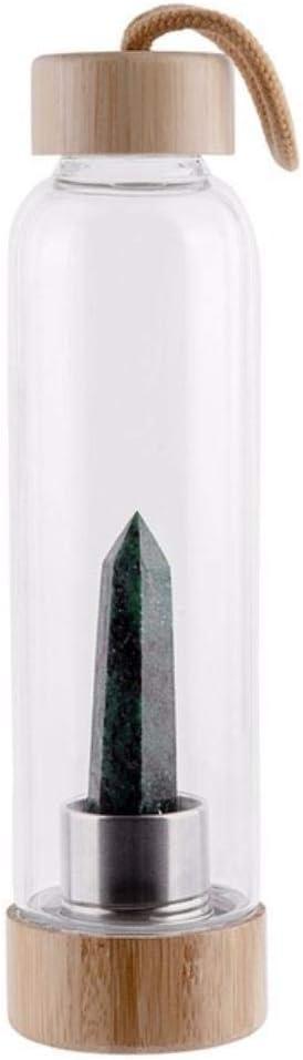 Zhipeng Natural de Cristal Taza de Agua Hervidor Consejo obelisco Vidrio cristalino de la Caldera de Madera Tapa de la Taza, C hsvbkwm