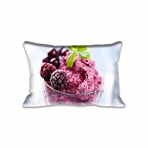 Berries Ice Cream Pillow Cases Printed Cute Food and Drink Pillow Shams Comforter Bedroom & Living Room Decorative Bed Pillow Covers Two Sides - Berry Standard Sham
