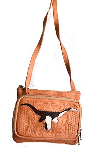 western-tan-brown-longhorn-texas-cowhide-leather-hand-tooled-messenger-purse
